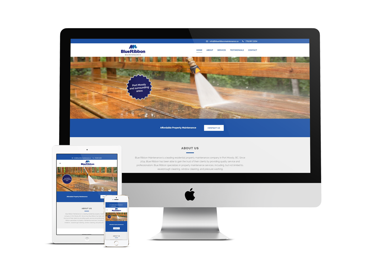 Web Design for Property Maintenance In Port Moody, BC
